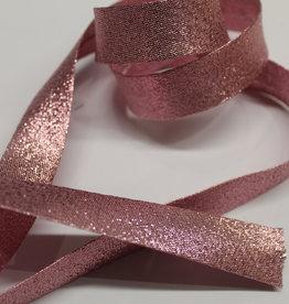 Biais metallic glitter 18mm op rol col.5 rose
