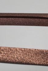 Biais metallic glitter 18mm op rol col.3 koper