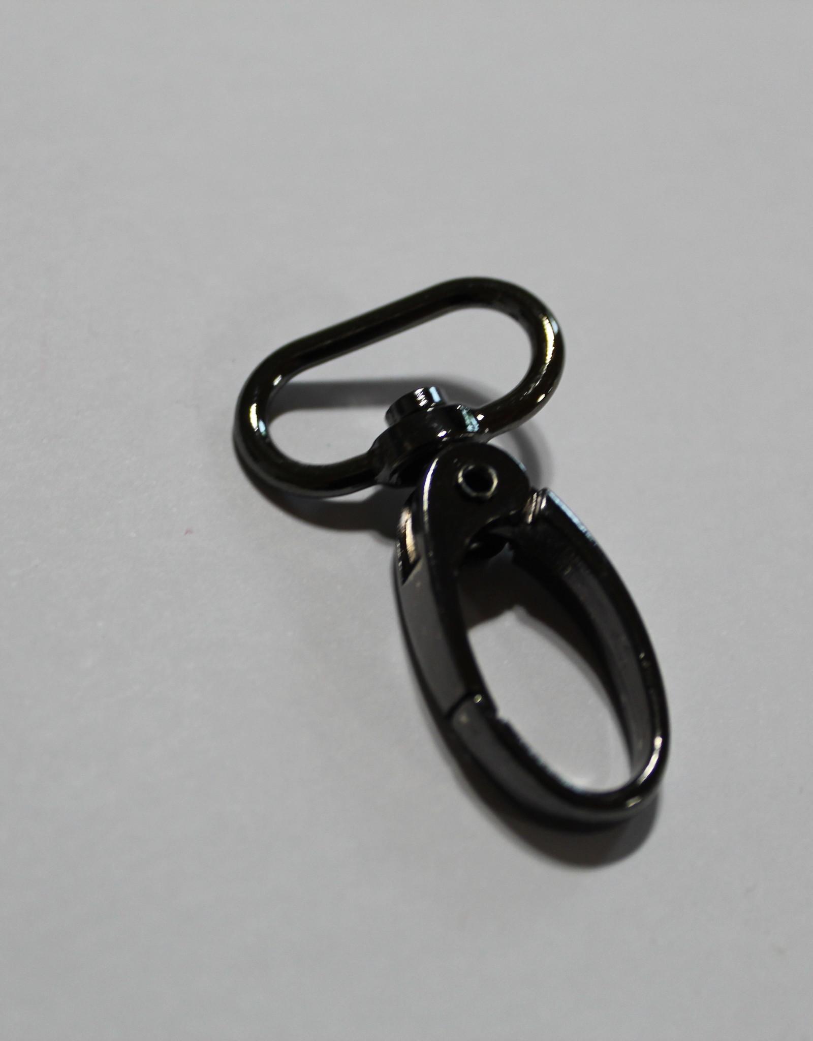 Karabijnhaak fijn 20mm zwart nikkel