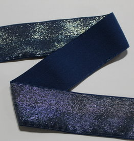 Union Knopf Elastiek jeans blauw tweekleurige glitters 40mm