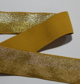 Union Knopf Elastiek oker geel tweekleurige glitters 40mm