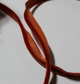 Paspel velours donker oranje rood col.216