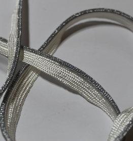 Union Knopf Paspel structuur zilver wit col.82