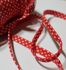 Paspel dots gespikkeld rood