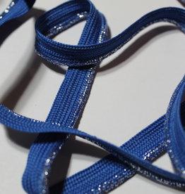Paspel geweven glitters denim blauw