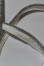 Union Knopf Paspel elastisch structuur zilver wit col.1282