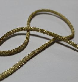 Koord gevlochten glitter lurex goud 4mm