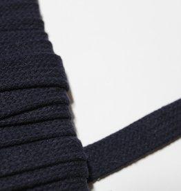 Platte veter navy blauw 15mm