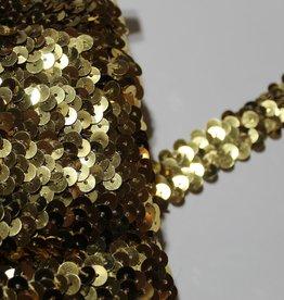 Prym Elastische paillettenband 5mm tot 12mm goud