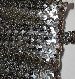 Prym Elastische paillettenband 5mm tot 12mm zilver