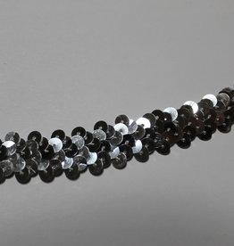 Prym Elastische paillettenband 12mm tot 25mm zilver