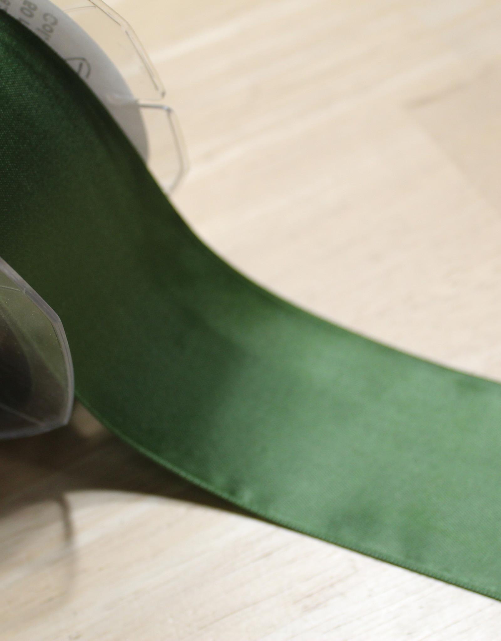Dubbelzijdig satijnlint 50mm kaki col.542