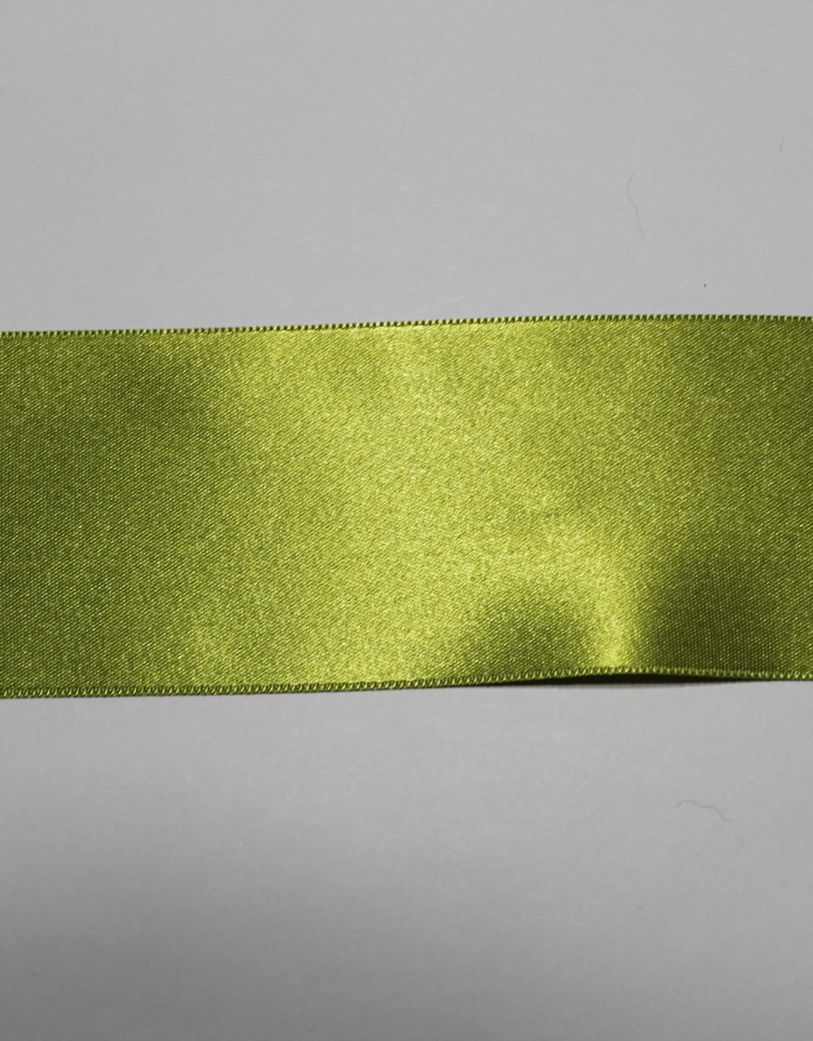 Dubbelzijdig satijnlint 50mm olijf col.6547