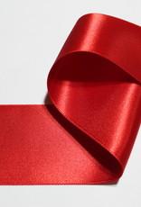 Dubbelzijdig satijnlint 50mm rood col.722