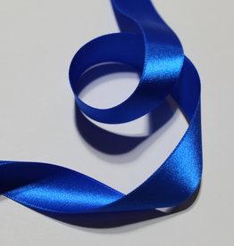 Dubbelzijdig satijnlint 25mm kobalt blauw col.215
