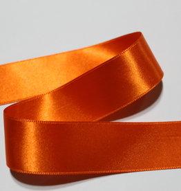 Dubbelzijdig satijnlint 25mm oranje col.693