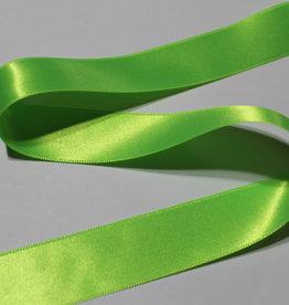 Dubbelzijdig satijnlint 25mm neon fluo groen col.9996