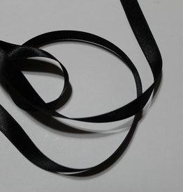 Dubbelzijdig satijnlint 10mm zwart col.000