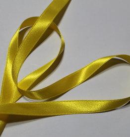 Dubbelzijdig satijnlint 10mm geel col.645