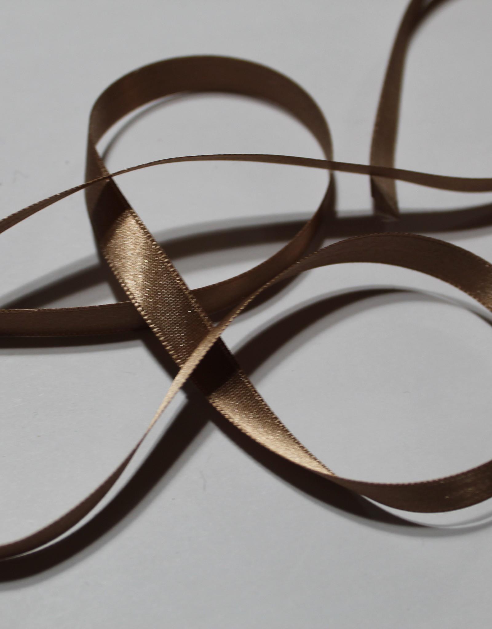 Dubbelzijdig satijnlint 10mm beige col.886