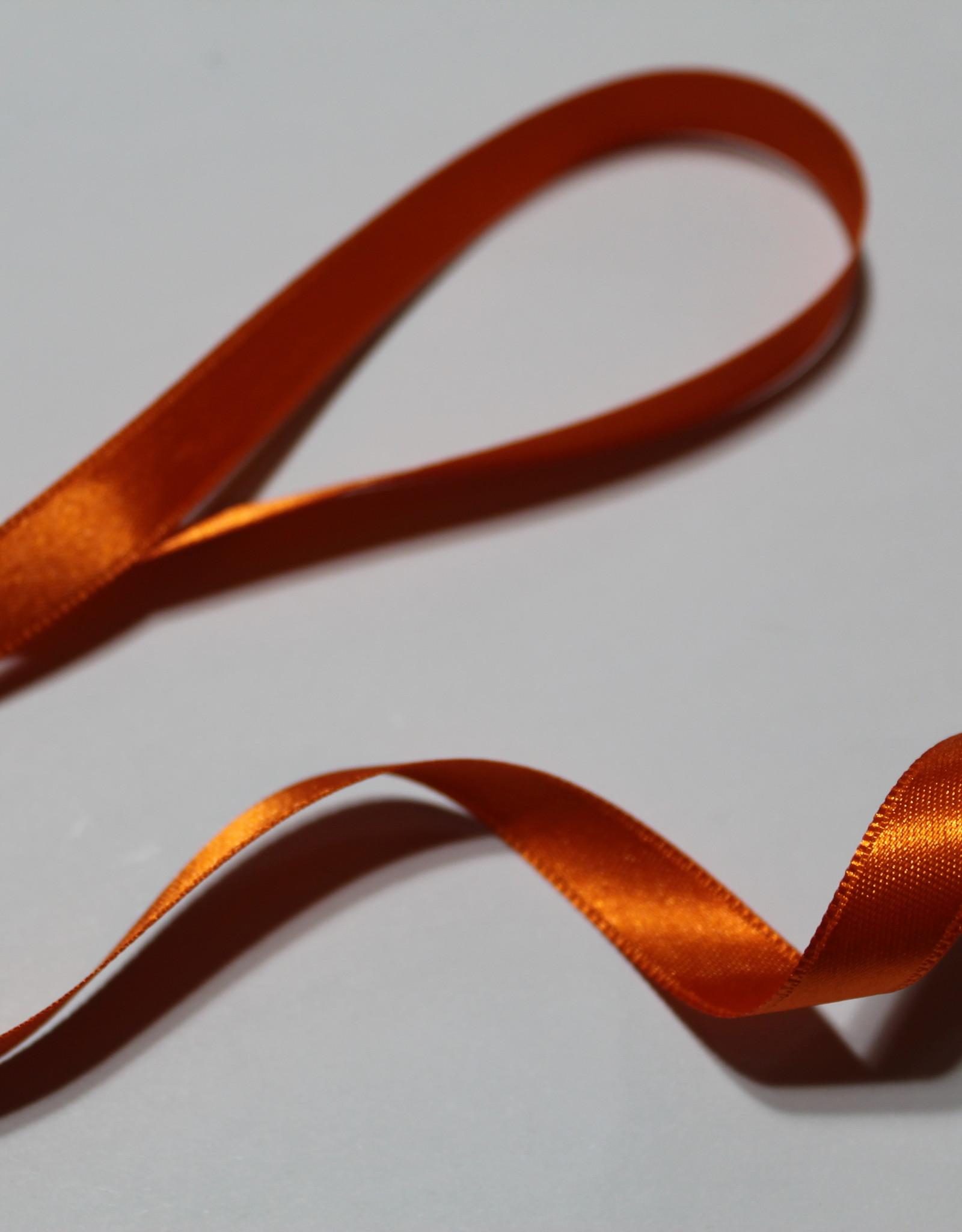 Dubbelzijdig satijnlint 10mm oranje col.693