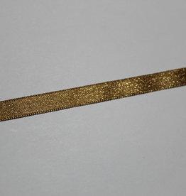 Dubbelzijdig satijnlint 10mm donkergoud lurex