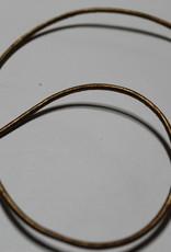 Echt lederen koord goud 2mm