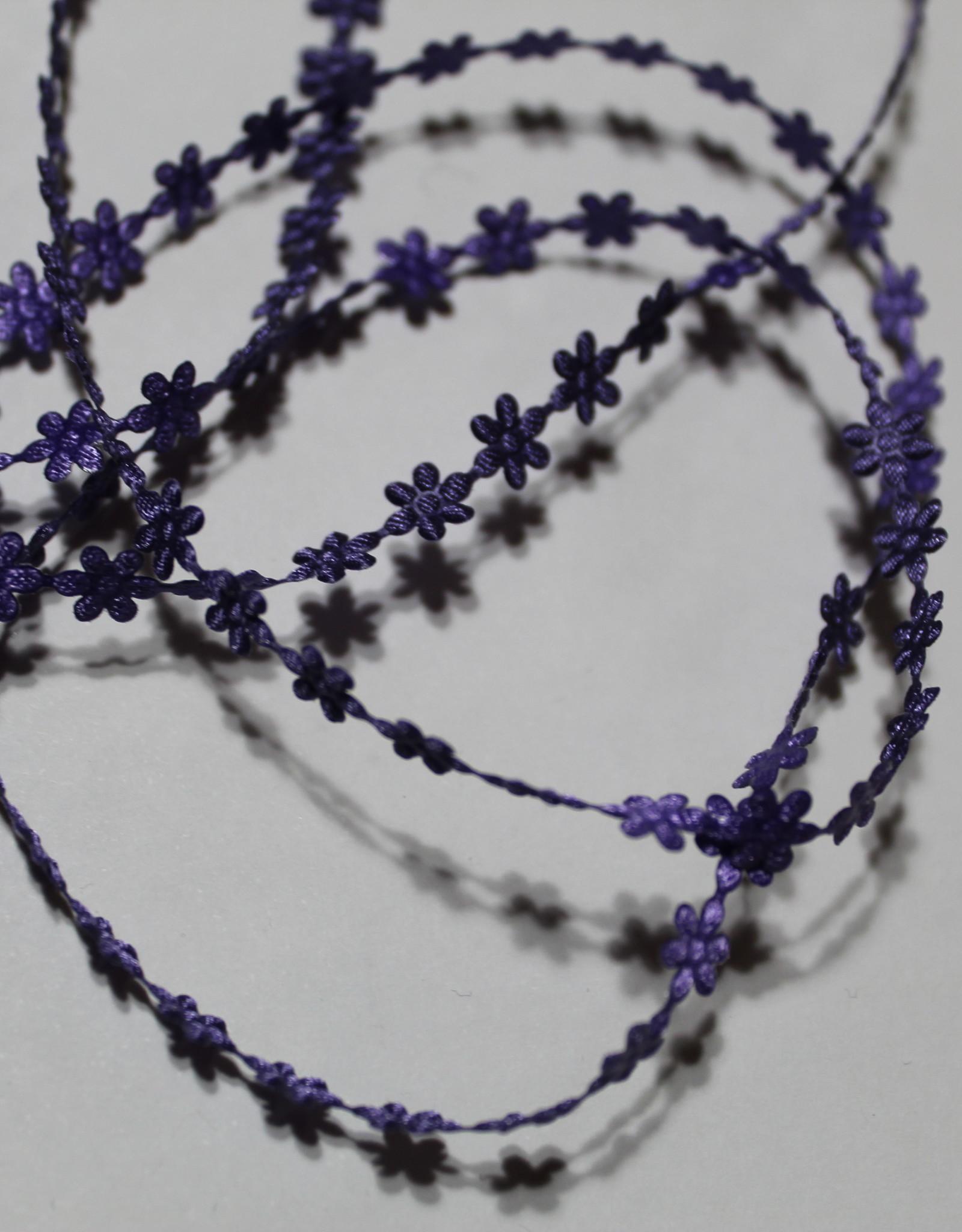 Bloemetjeslint -opstrijkbaar- paars