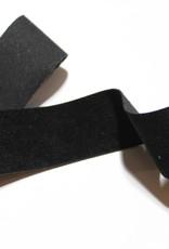 Suede lint zwart 25mm