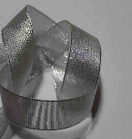 Lurex lint glitter zilver 25mm
