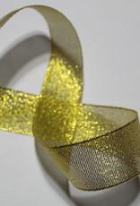 Lurex lint glitter goud 25mm