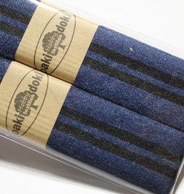 Gallon lint 30mm blauw met 2 zwarte lijnen pakket van 2x125mm