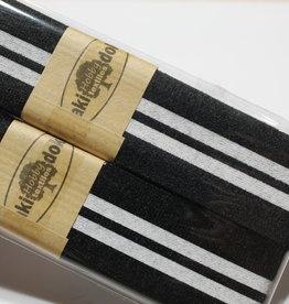 Gallon lint 30mm zwart met 2 witte lijnen pakket van 2x125mm