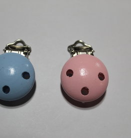 Speenclips hout babyblauw