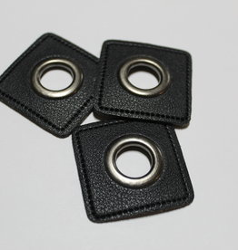 Nestelring XL met zwart leder