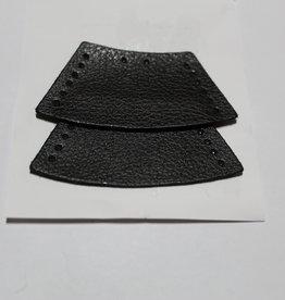 Touweinde in imitatieleder zwart - te naaien - per 2