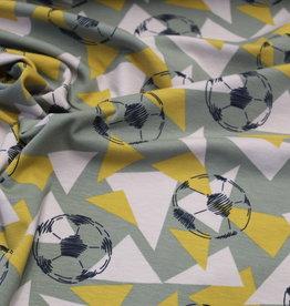Tricot voetbal lichtkaki/beige/oker