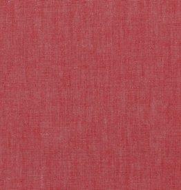 Poppy Katoen poplin mélange rood
