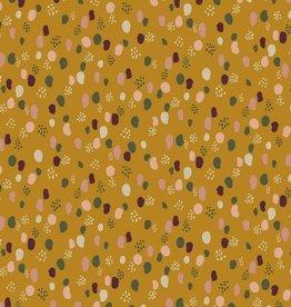 Poppy Jersey glitter dots oker