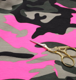 Tricot legerprint in the army met neonpink