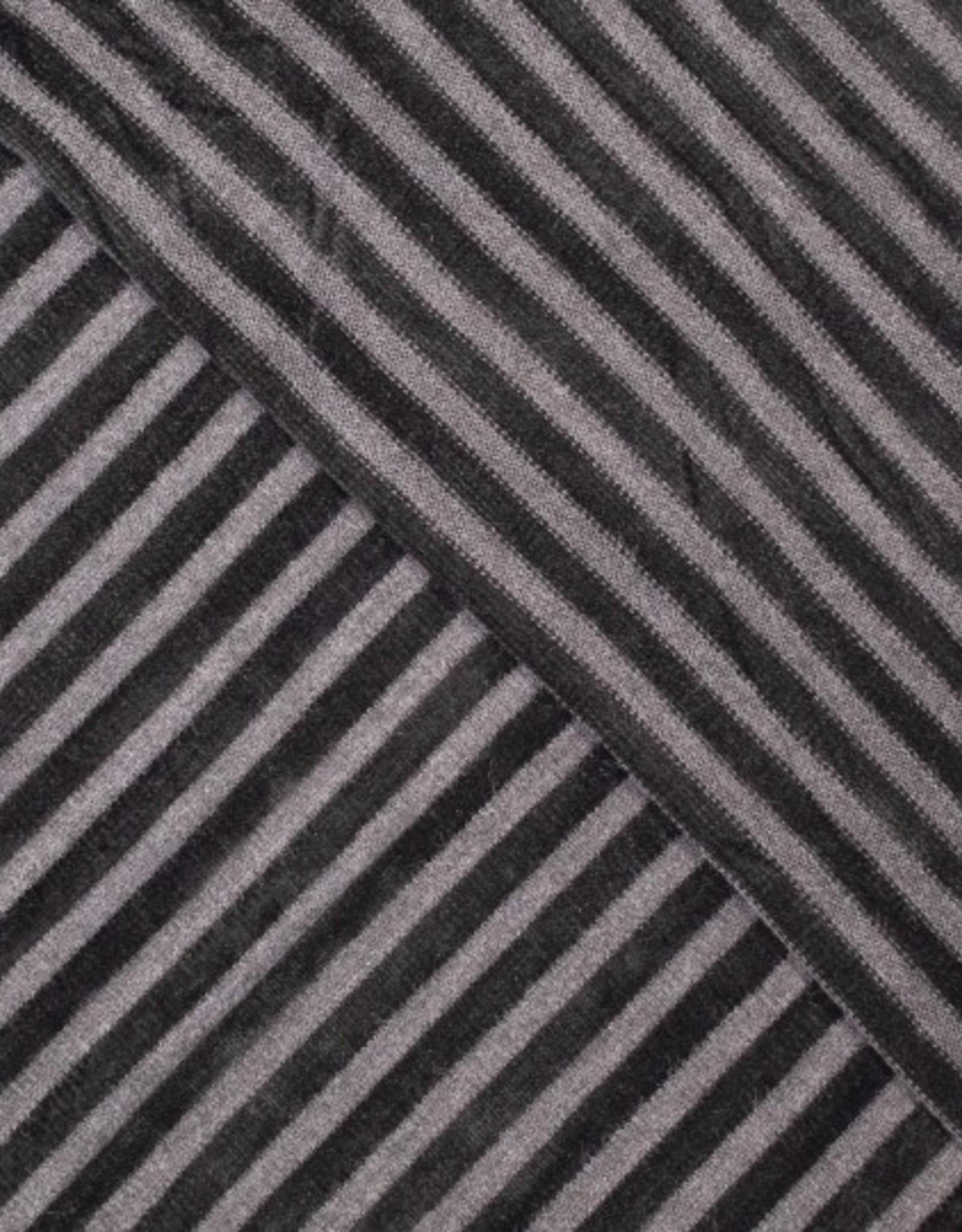 COUPON Breisel gestreept soft zwart 120x150cm