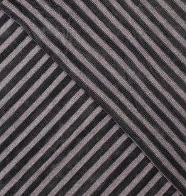 Breisel gestreept soft zwart
