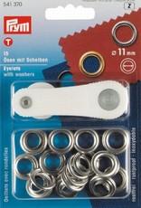 Prym Prym - Ring+Schijf 11mm zilver - 541 370