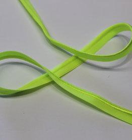 Paspel elastisch fluo geel