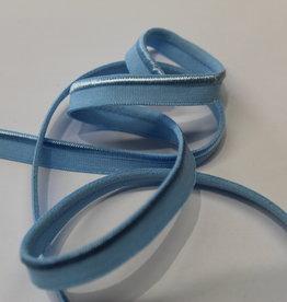 Paspel elastisch licht blauw satijn