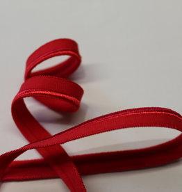 Paspel elastisch rood satijn