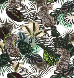 Nooteboom Digital tricot luipaard tussen de bladeren
