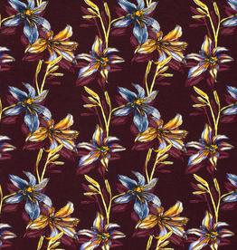 Nooteboom Tricot aubergine lelies