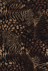 Nooteboom Spandex dierenprint tijger metallic antiek goud