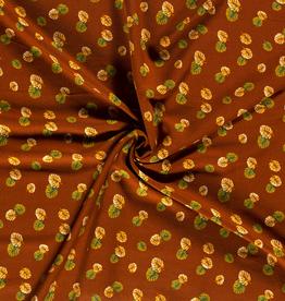 Viscose roest met bladerprint